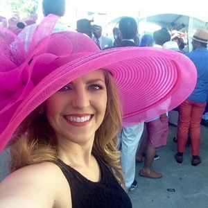 Worn Once! Gorgeous Pink Derby / Dress Hat